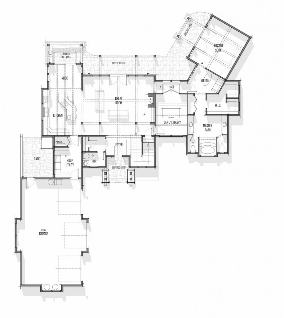 Trinity Building Systems San Juan model floor plan - lower level