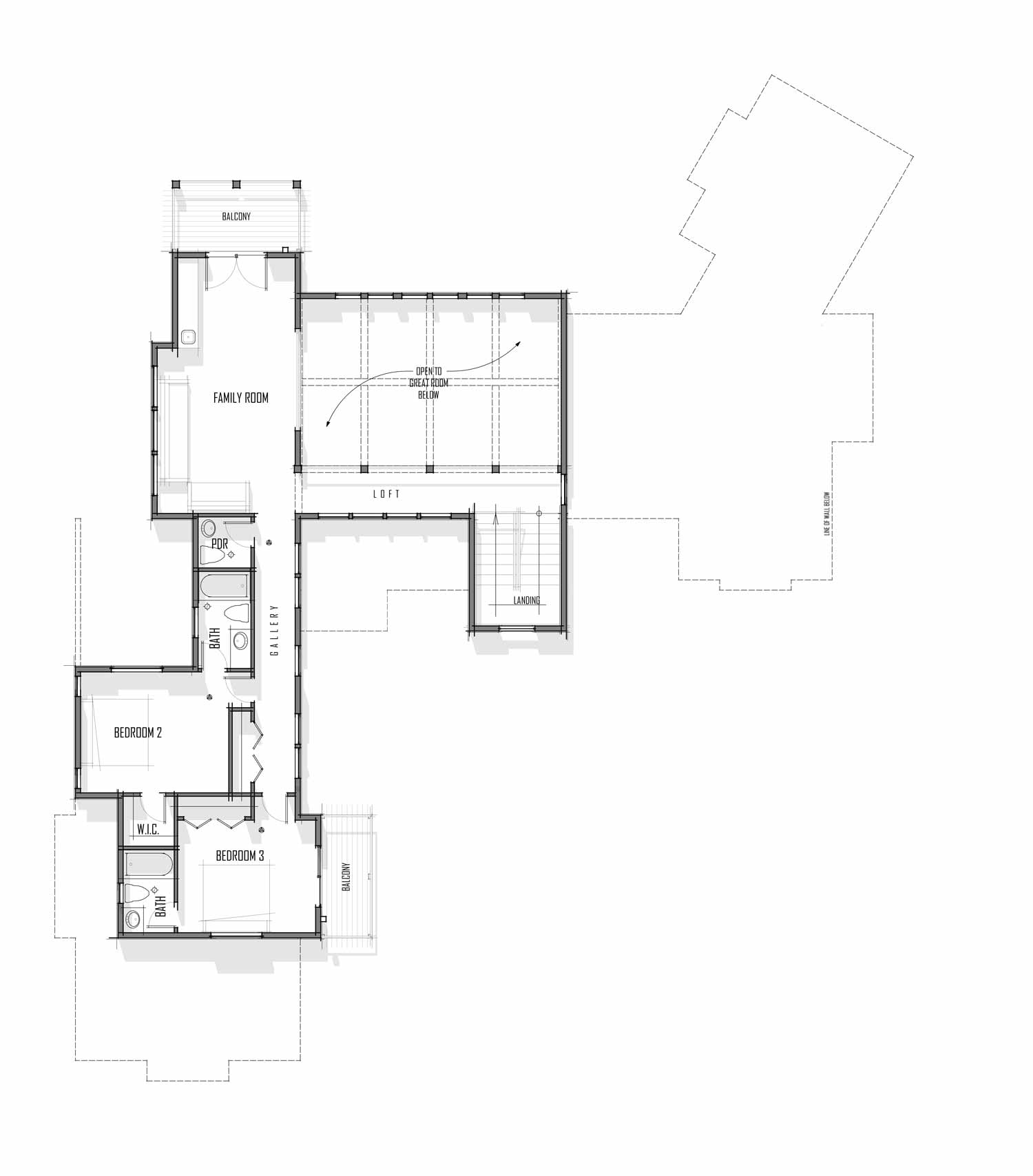 Trinity Building Systems San Juan model floor plan - Upper level