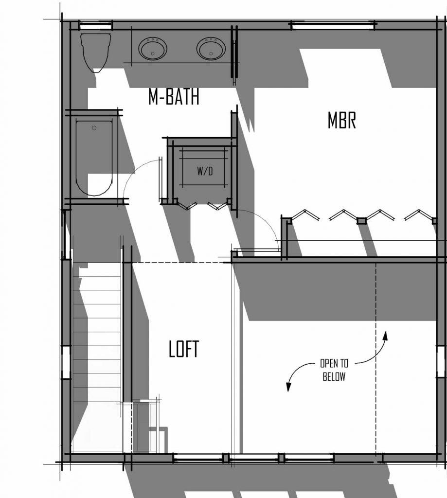 Trinity Building Systems Hoskin Cottage Prefabricated Package - Upper Level - Floor Plan