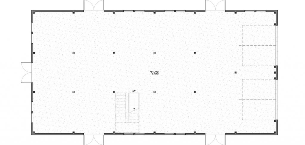 Trinity Building Systems Cider House Commercial Venue - Main Level - Floor Plan