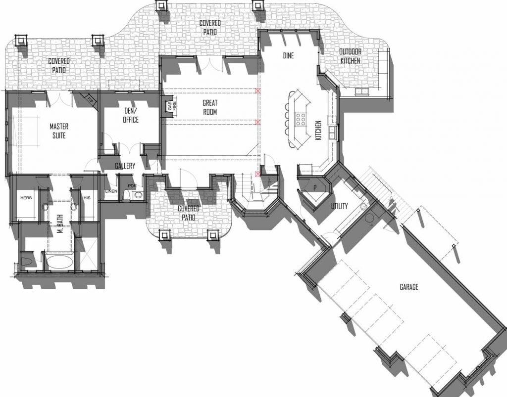 Trinity Building Systems Ambrose Model - Floor Plan - Main Level