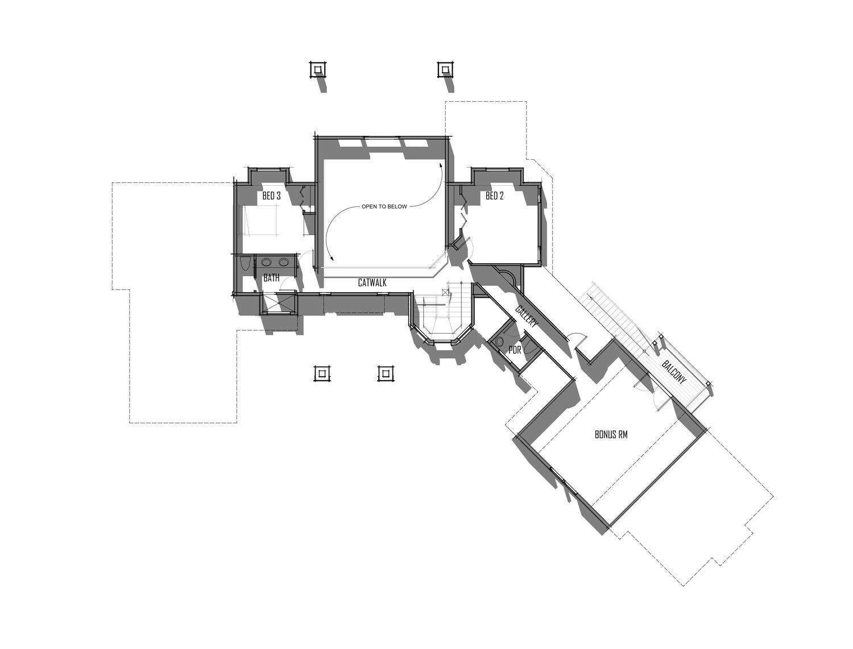 Trinity Building Systems Ambrose Model - Floor Plan - Upper Level