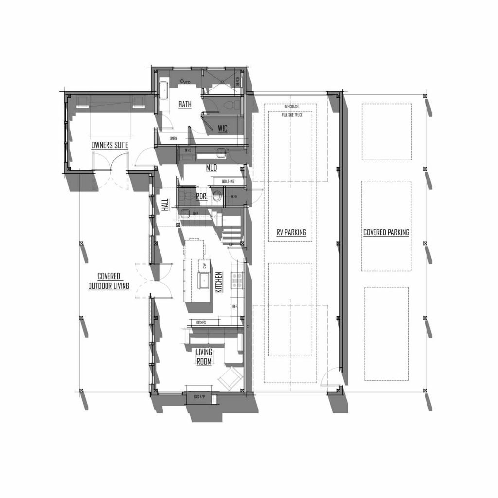 Trinity Building Systems Hichliff House Material Package - Floor Plan - Main Level