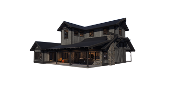 Trinity Building Systems Prefabricated Material Package Custom Home Front View