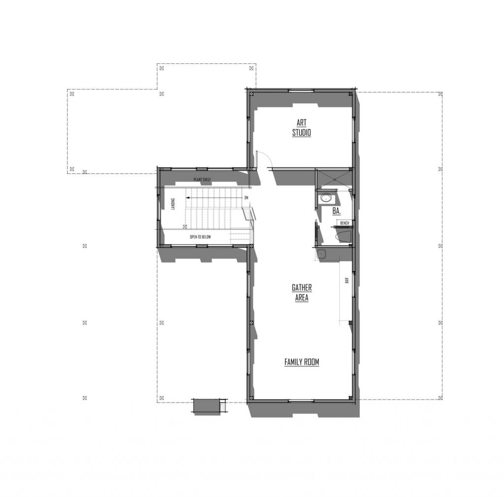 Trinity Building Systems Hinchliff House Material Package - Floor Plan - Upper Level