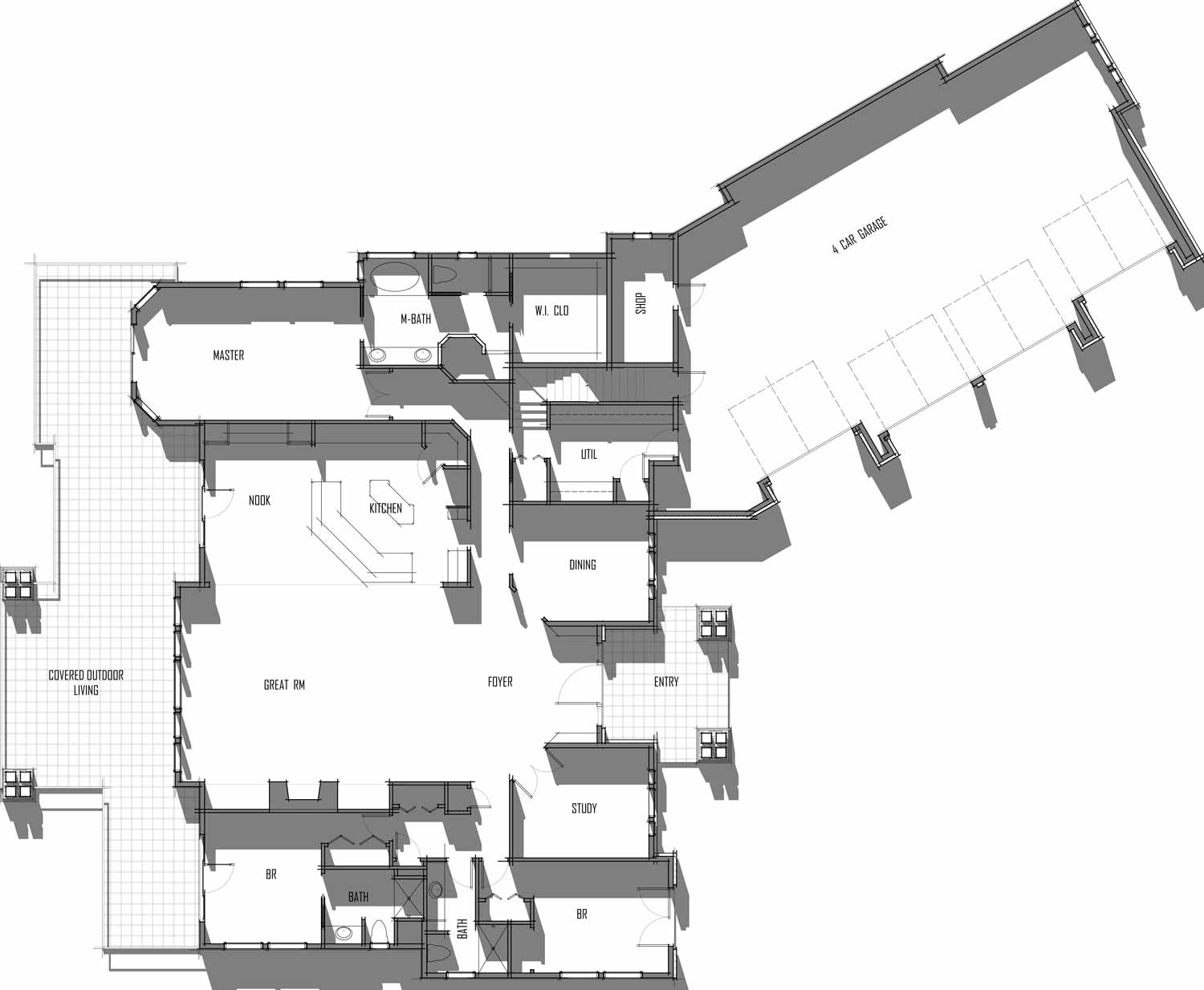 Trinity Building Systems Hoskin House Material Package - Floor Plan - Main Level