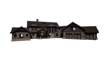 Trinity Building Systems Mountain Home Style Ambrose Costume Home Series Front View