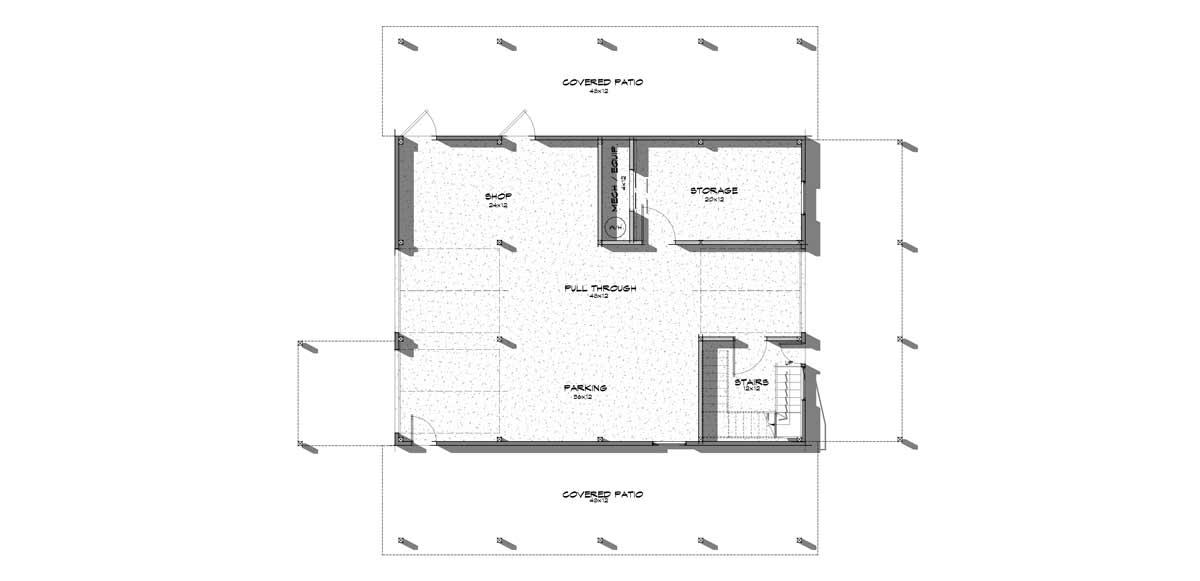 Wallowa Main level floor plan