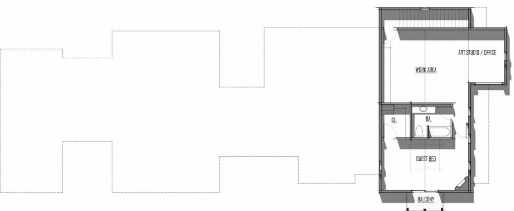 Trinity Building Systems Steigman House Material Package - Floor Plan - Upper Level