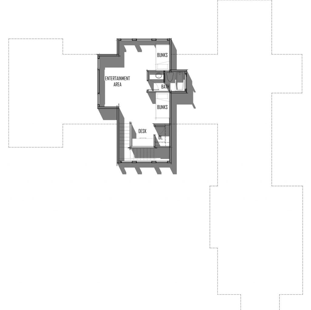 Trinity Building Systems Suncadia House Material Package - Floor Plan - Upper Level