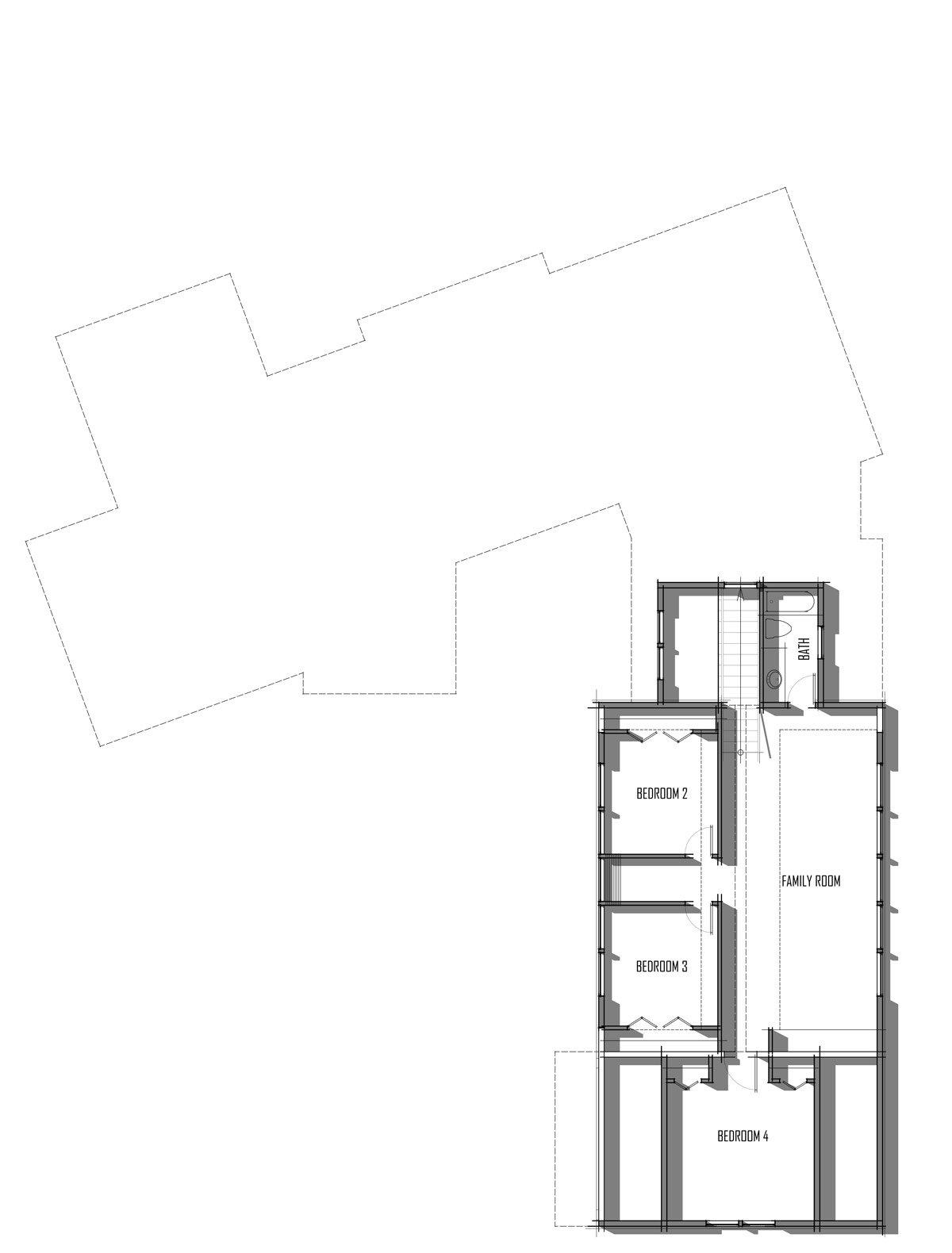 Trinity Building Systems - Ozark Prefab House - Upper Level Floor Plans