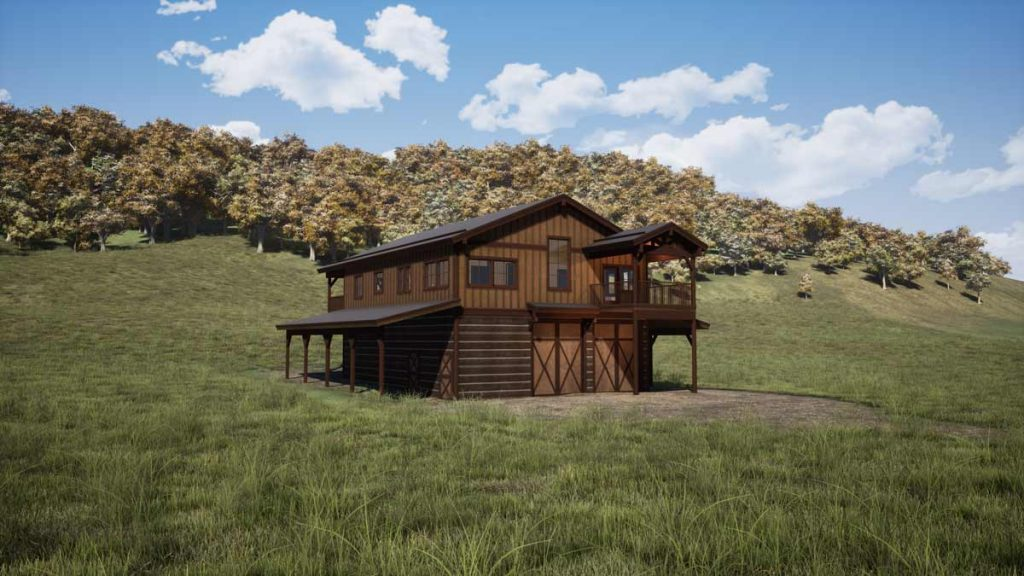 Trinity Building Systems Wallowa Prefabricated Custom Home Left front view