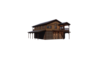 Trinity Building Systems Wallowa Prefabricated Custom Home Left Front View No Background