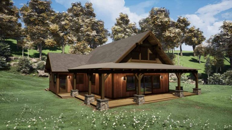 Trinity Building Systems Parkrose Cabin Timber Frame House Plans