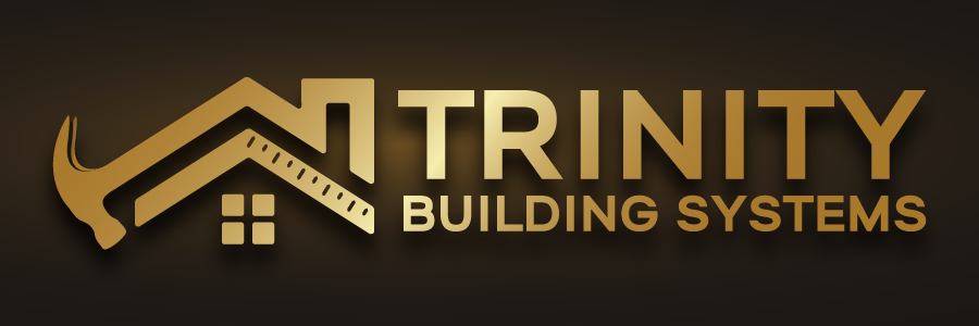 Trinity Building Systems Logo - Gold with black background
