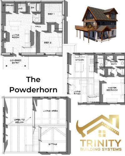 Trinity Building Systems Powderhorn model floor plan - Design tips for resale.