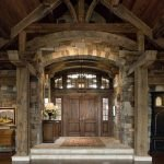 hand crafted timber frame entryway