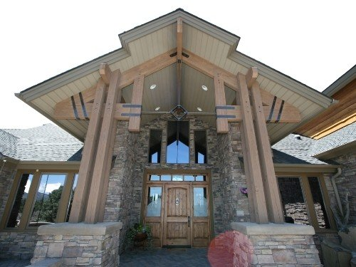 TBS Post and Beam truss system featured in the Ozark model material package.