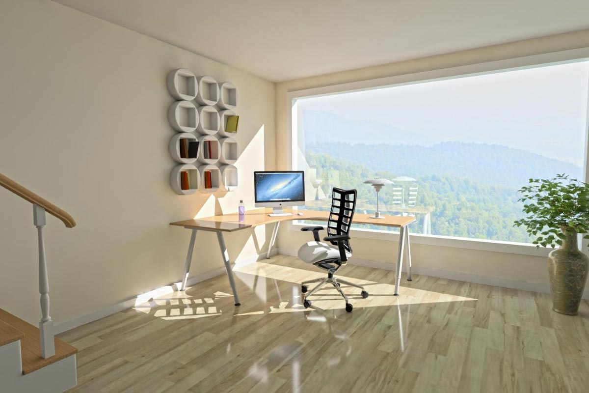 Designing a home office to have a view