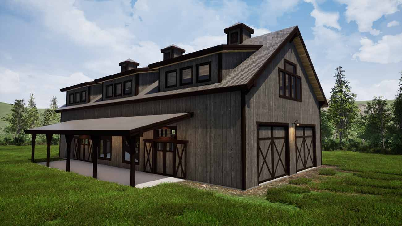 Commercial timber frame building