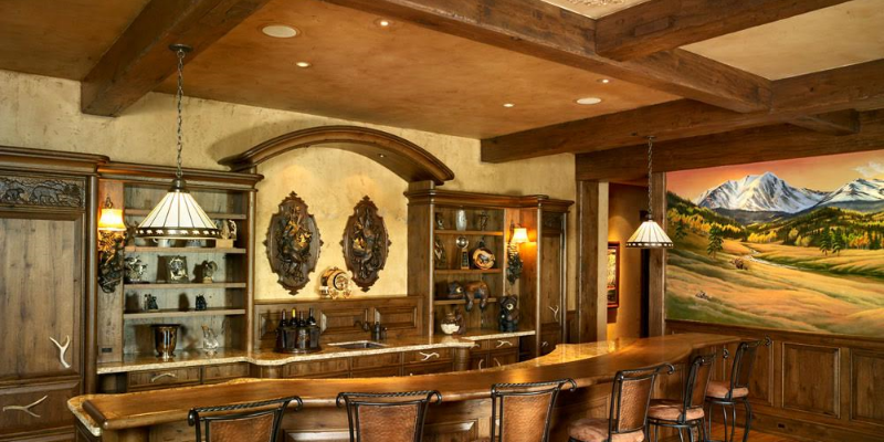 Timber frame interior home