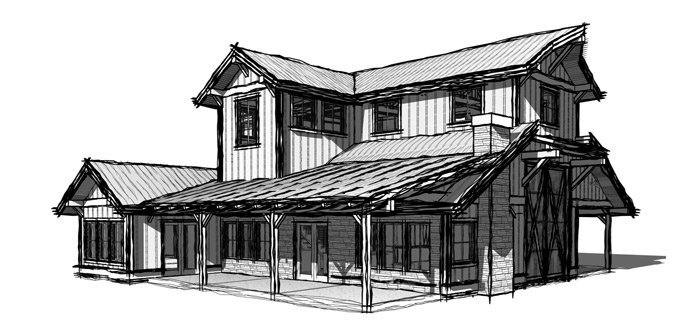 Barn and shop with living quarters by Trinity building Systems - The Hinchcliff Model