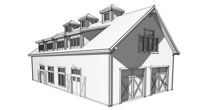 Trinity Building Systems timber frame barn plans - The Metolius