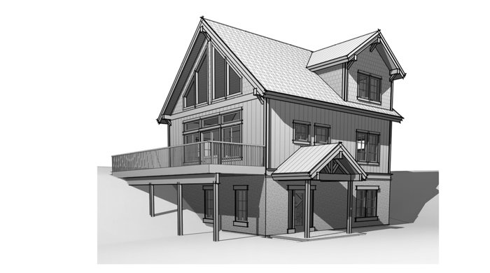 Prefabricated cabin plans by Trinity Building Systems - The Powderhorn