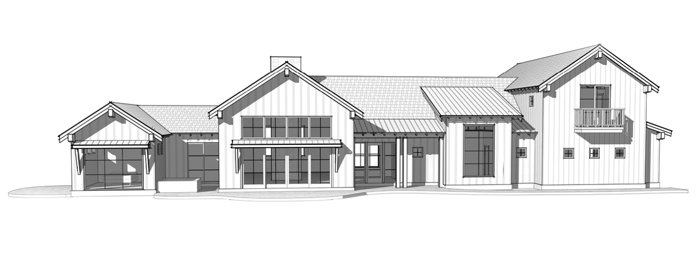 Modern Rustic Timber Frame Home Plan by Trinity Building Systems