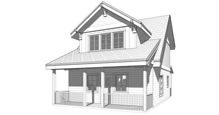 Small prefabricated timber frame cabin floor plans by Trinity Building Systems - The Huntsmen