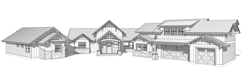 6,000 square foot, custom timber frame floor plan by Trinity Building Systems; The Highlander model.