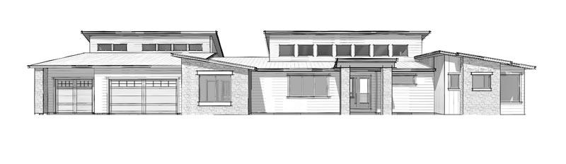 The Sundance, modern rustic floor plan design by Trinity Building Systems.
