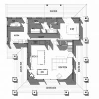 Trinity Building Systems Parkrose prefabricated home main level floor plan